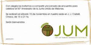 Invitacion 50 años JUM