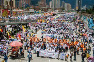 Marcha por la paz en Colombia (justapaz)