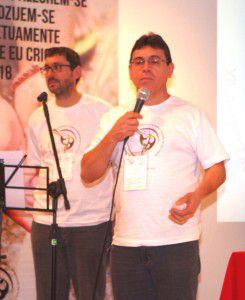 El Secretario General Darío Barolín y el Vice-Presidente Agnaldo P. Gomes dando la bienvenida a los presentes.