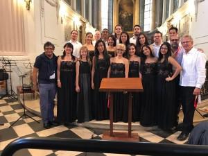 Orquesta de la UniReformada en Leipzig con autoridades de la CUR